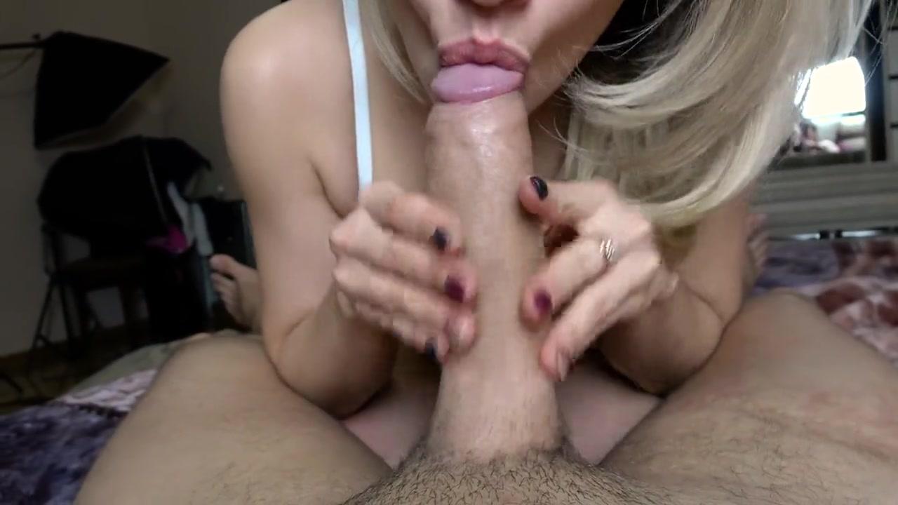 Blonde Blowjob Up Close