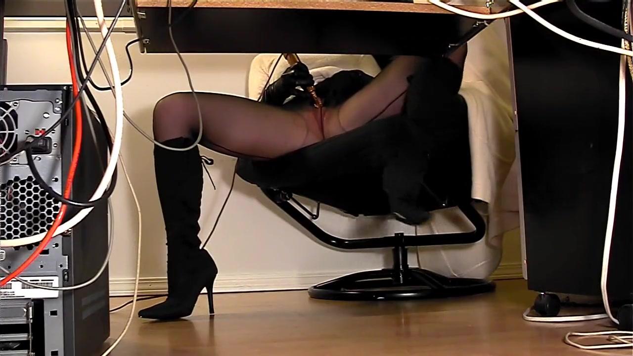 Lesbian Slave Under Table